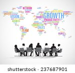 silhouette business people with ... | Shutterstock .eps vector #237687901