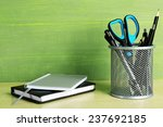Metal Holder With Pens  Pencil...