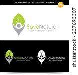 save nature logo. | Shutterstock .eps vector #237693307