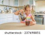 little beautiful smiling girl... | Shutterstock . vector #237698851