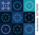 vector set of abstract frames... | Shutterstock .eps vector #237700909