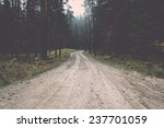 Country Gravel Road In The...