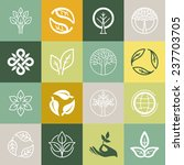 vector set or organic signs and ... | Shutterstock .eps vector #237703705