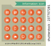 information icons on bright...