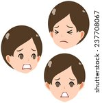 face of a troubled boy front... | Shutterstock . vector #237708067