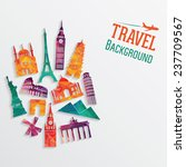 travel and tourism background.... | Shutterstock .eps vector #237709567