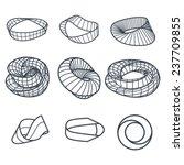 klein bottle and mobius strip... | Shutterstock .eps vector #237709855