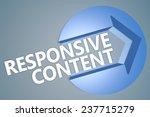responsive content   3d text...