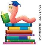 Illustration Of A Bookworm...