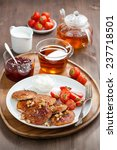 delicious breakfast. pancakes... | Shutterstock . vector #237718501