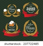 set of beer labels on vintage... | Shutterstock .eps vector #237722485