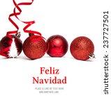 feliz navidad against christmas ...   Shutterstock . vector #237727501