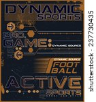 active sports  tee graphic | Shutterstock .eps vector #237730435
