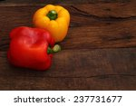 red and yellow sweet pepper on... | Shutterstock . vector #237731677