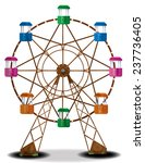 A Cute Wooden Ferris Wheel Wit...