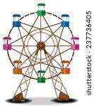 A Cute Wooden Ferris Wheel Wit...