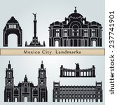 mexico city landmarks and... | Shutterstock .eps vector #237741901