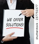 we offer solutions  | Shutterstock . vector #237752377