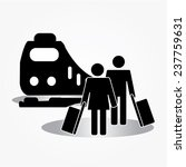 people travel with train subway ... | Shutterstock .eps vector #237759631