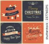 merry christmas and happy new... | Shutterstock .eps vector #237760291