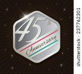 45th anniversary   classy and... | Shutterstock .eps vector #237762301