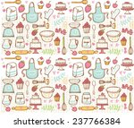 baking kitchen icons seamless... | Shutterstock .eps vector #237766384