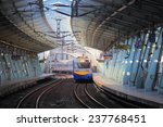 train on the railway... | Shutterstock . vector #237768451