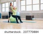 senior woman sitting on a... | Shutterstock . vector #237770884