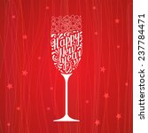white lettering happy new year... | Shutterstock .eps vector #237784471
