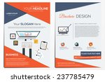 Brochure Design Template.  Abstract Modern Backgrounds, Infographic Concept.Flat design. Vector | Shutterstock vector #237785479