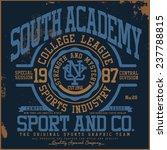 college tee graphic | Shutterstock .eps vector #237788815