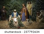 Christmas Nativity Scene With...