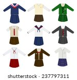 school uniform vector | Shutterstock .eps vector #237797311
