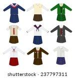 school uniform vector | Shutterstock .eps vector #237797311