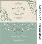 invitation cards in an old... | Shutterstock .eps vector #237799399