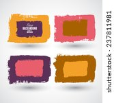 grunge ink hand drawn squares | Shutterstock .eps vector #237811981