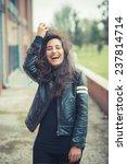young beautiful brunette woman... | Shutterstock . vector #237814714