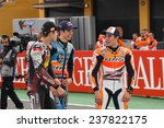 Постер, плакат: The three MotoGP champions
