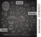 travel icons set. hand drawn... | Shutterstock .eps vector #237825217