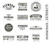 set of twelve fitness labels.... | Shutterstock .eps vector #237828175