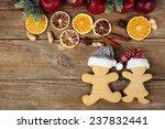 Christmas Cookies And Fruits O...