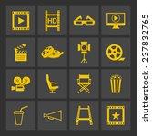 film icons   Shutterstock .eps vector #237832765