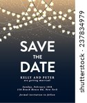 save the date invitation card... | Shutterstock .eps vector #237834979