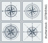 set of compass roses  windroses ... | Shutterstock . vector #237845461