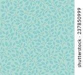 little turquoise leaves ... | Shutterstock .eps vector #237850999