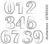 illustration  with  numbers on... | Shutterstock .eps vector #237852331