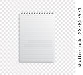 blank realistic spiral notepad... | Shutterstock .eps vector #237857971
