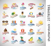 Summer Icons Set   Isolated On...