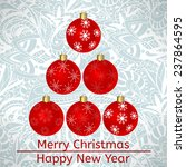 vector christmas card with... | Shutterstock .eps vector #237864595