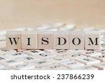 wisdom word background on wood... | Shutterstock . vector #237866239